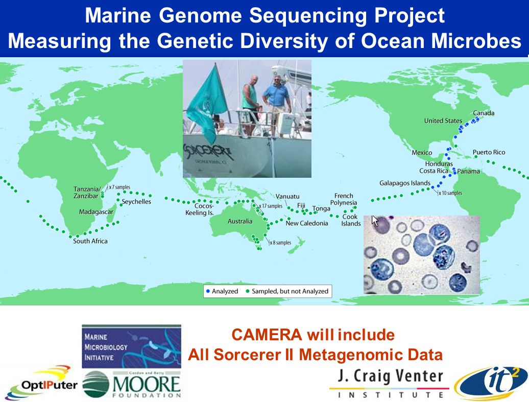 CAMERA will include All Sorcerer II Metagenomic Data