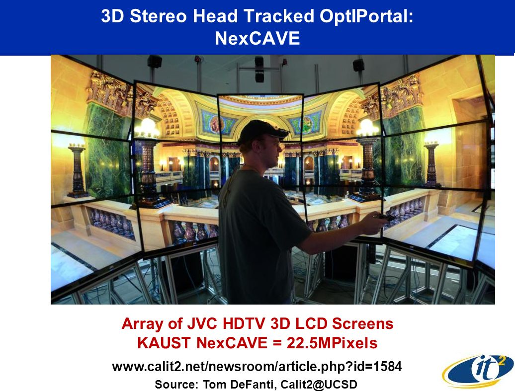 3D Stereo Head Tracked OptIPortal: NexCAVE