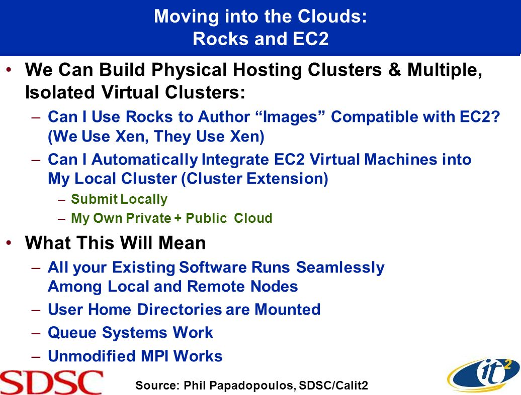 Moving into the Clouds: Rocks and EC2