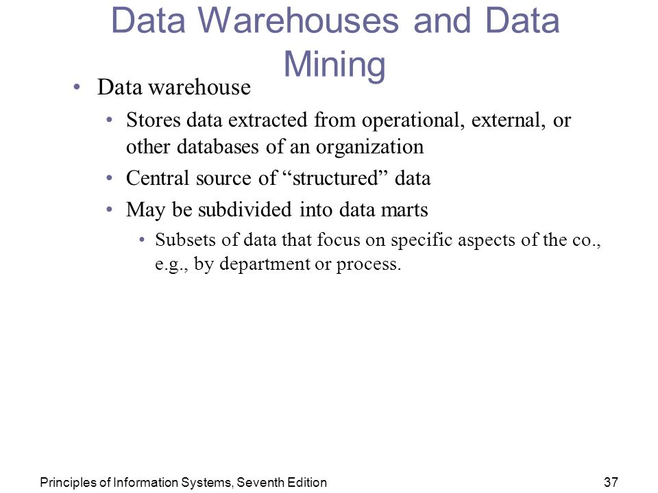 data warehouses data mining Issue 80 | wwwacdmorguk | 7 article against other data sources clinical data warehouses are increasingly including built-in capabilities, such as discrepancy.
