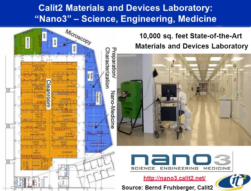 Calit2 Materials and Devices Laboratory: Nano3 – Science, Engineering, Medicine