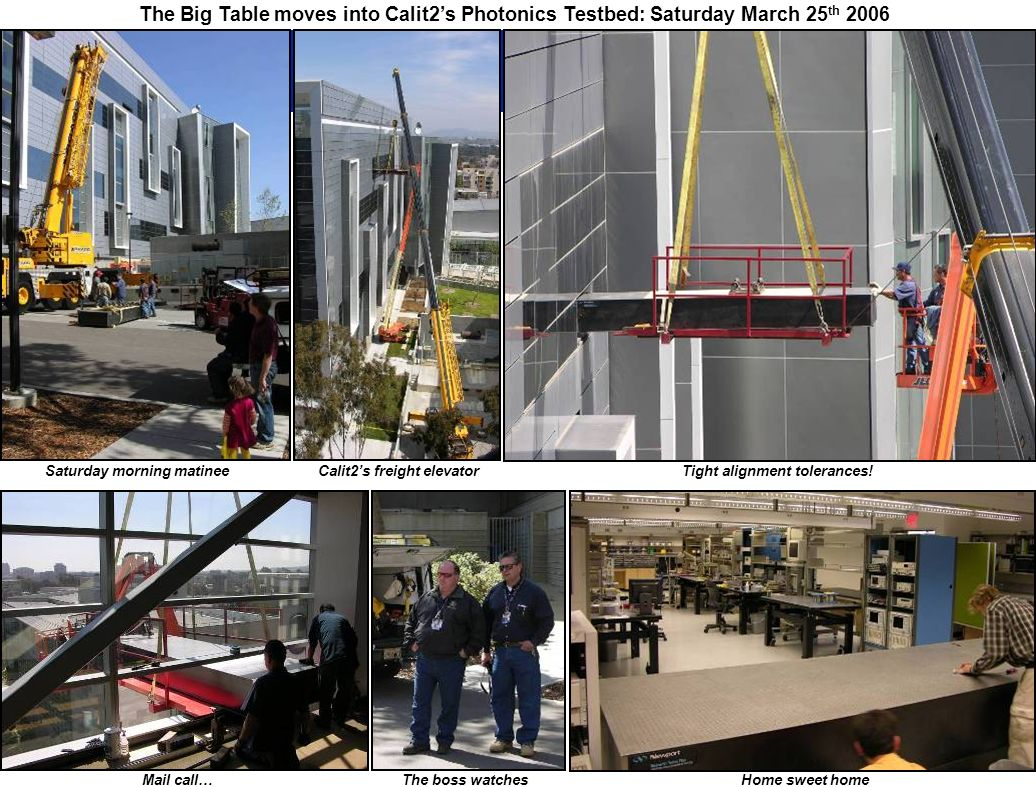 The Big Table moves into Calit2's Photonics Testbed: Saturday March 25th 2006
