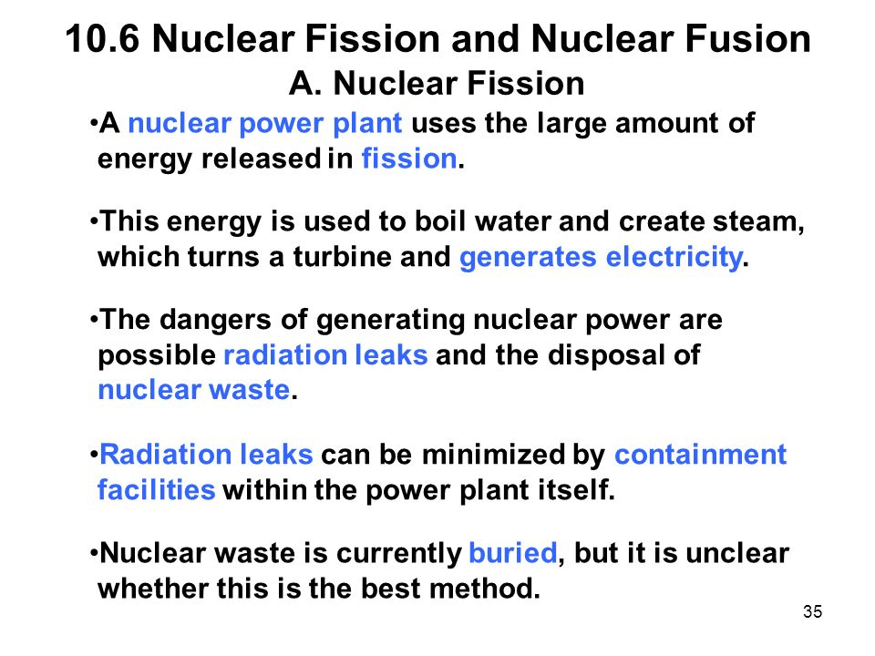 how to create power through nuclear fission