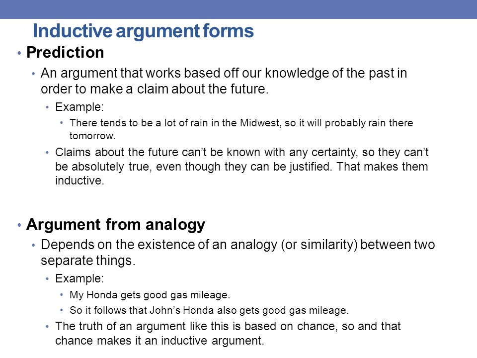 inductive argument abortion Deductive arguments 1  deductive versus inductive reasoning  govier has pointed out that there are four basic types of argument: deductive, inductive.