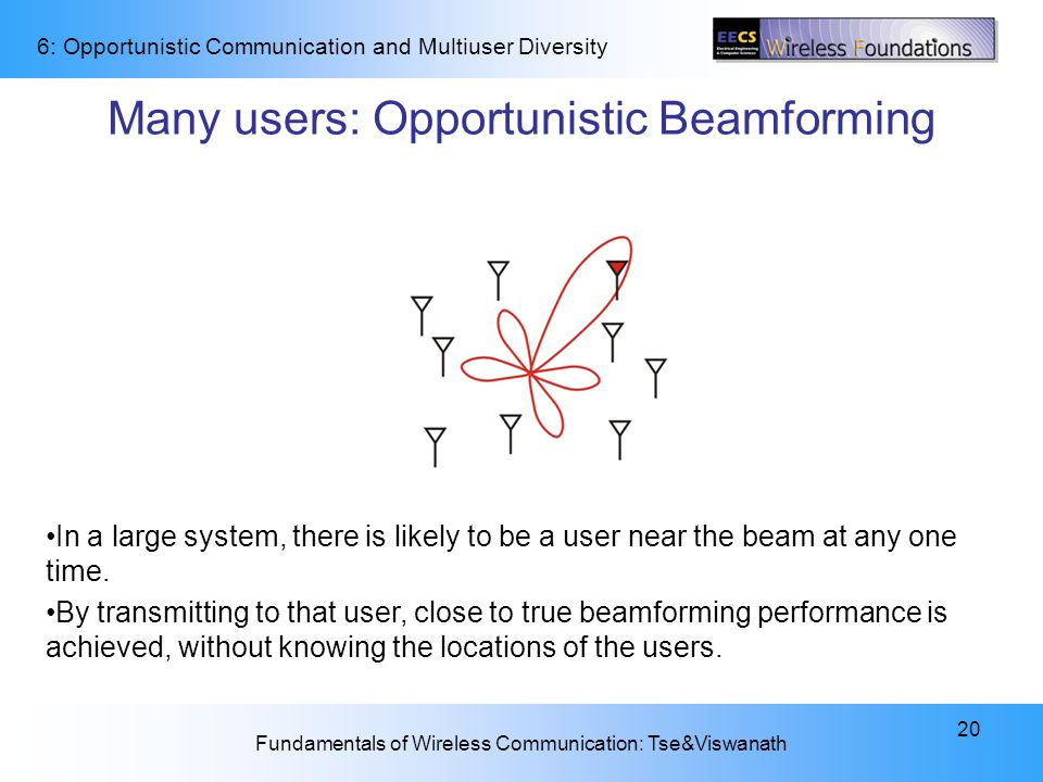 Many users: Opportunistic Beamforming