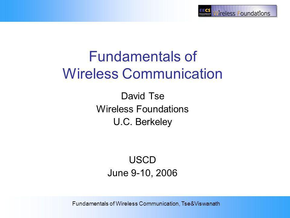 Fundamentals of Wireless Communication