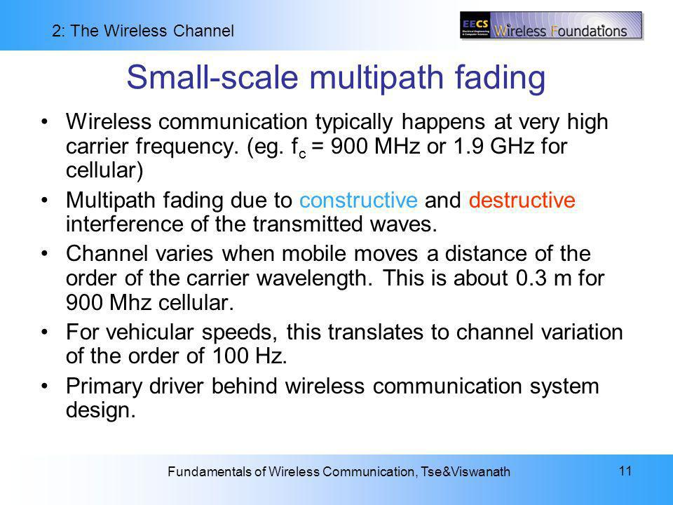 Small-scale multipath fading
