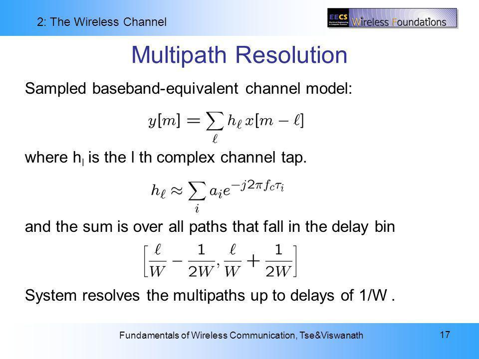 Multipath Resolution Sampled baseband-equivalent channel model: