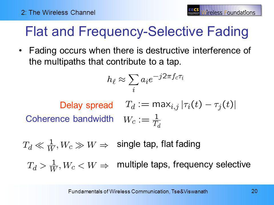Flat and Frequency-Selective Fading