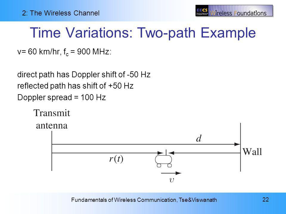 Time Variations: Two-path Example