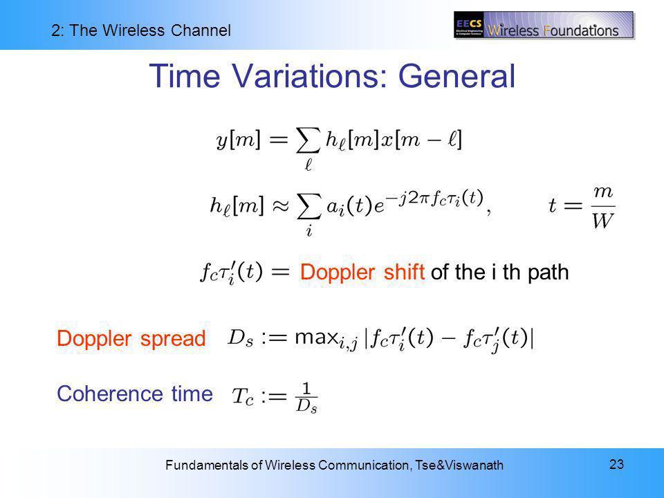 Time Variations: General
