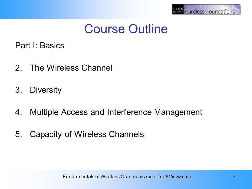 Course Outline Part I: Basics 2. The Wireless Channel Diversity