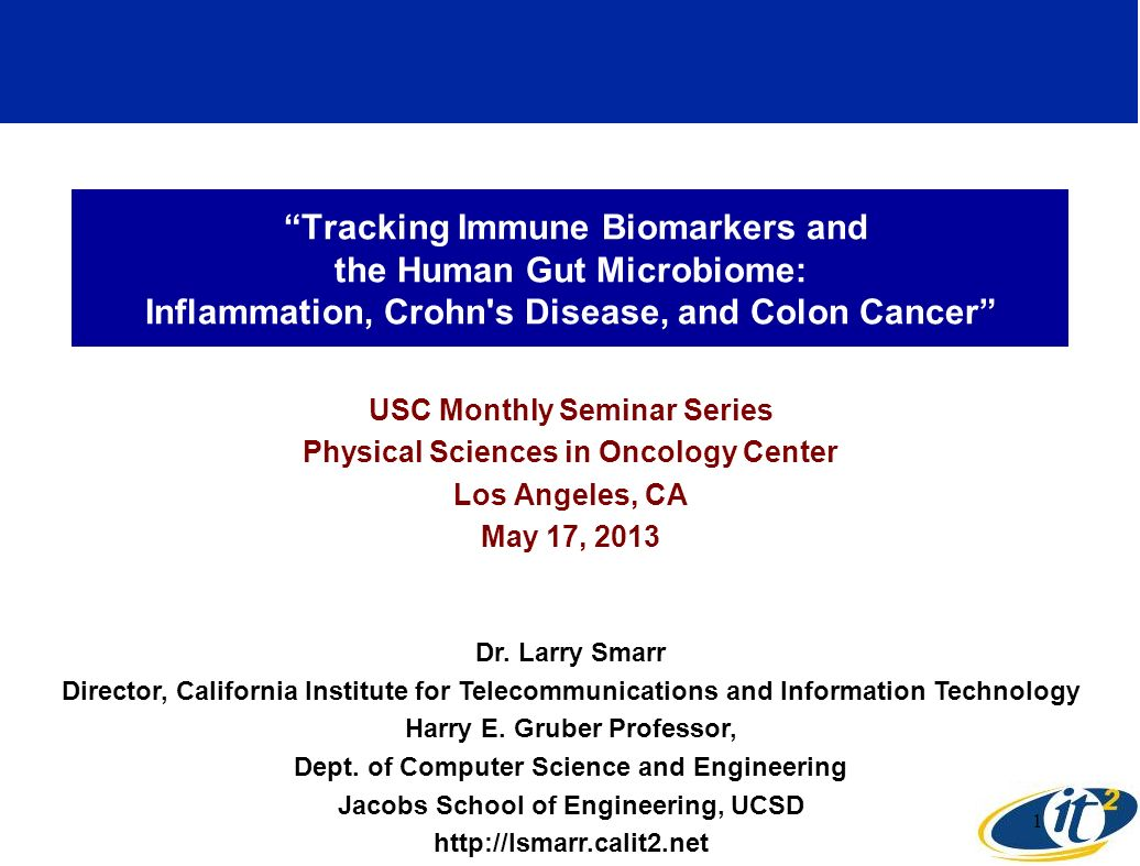 Tracking Immune Biomarkers and the Human Gut Microbiome: Inflammation, Crohn s Disease, and Colon Cancer