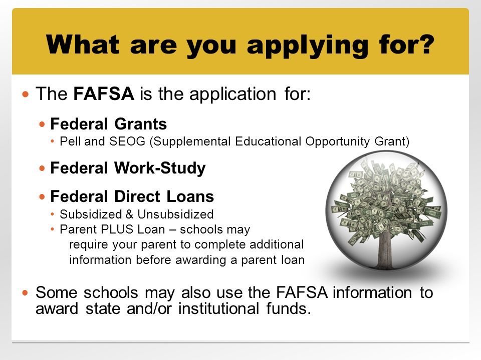Free Application for Federal Student Aid (FAFSA) - ppt ...