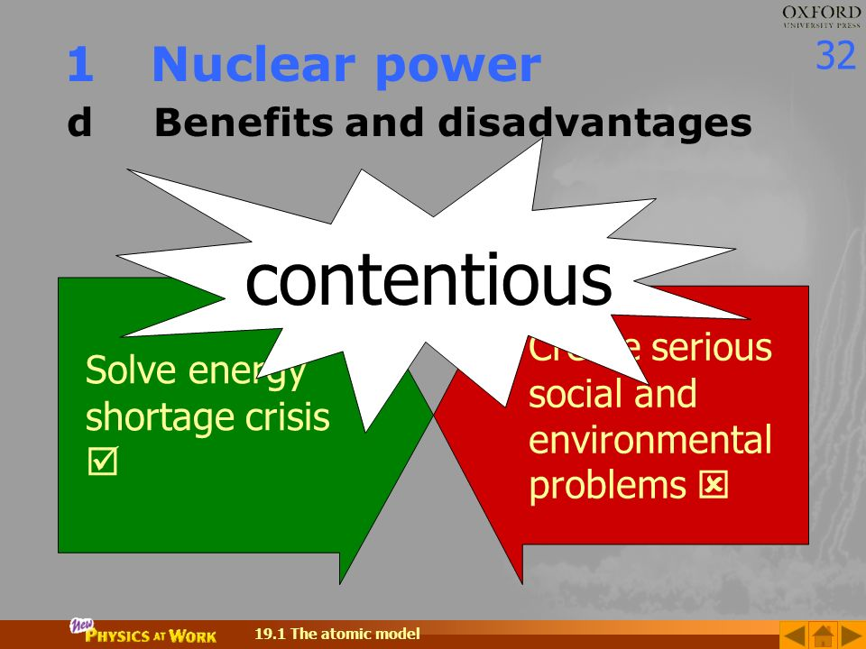 the benefits of nuclear power to society Nuclear energy is one of the most hotly debated energy and environmental issues what are the advantages and disadvantages of nuclear.