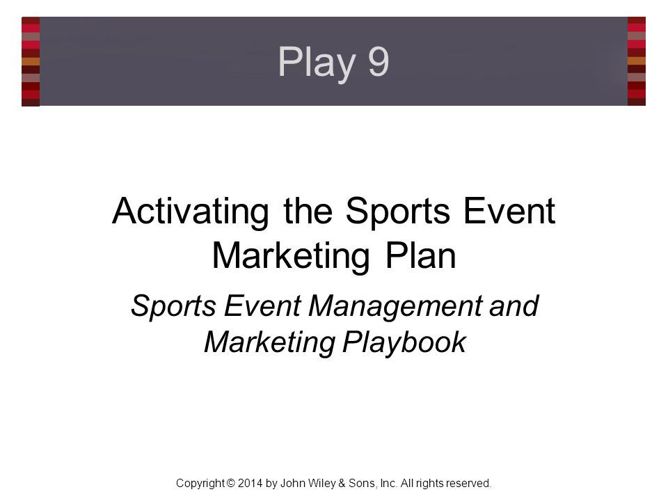 Sports marketing proposal