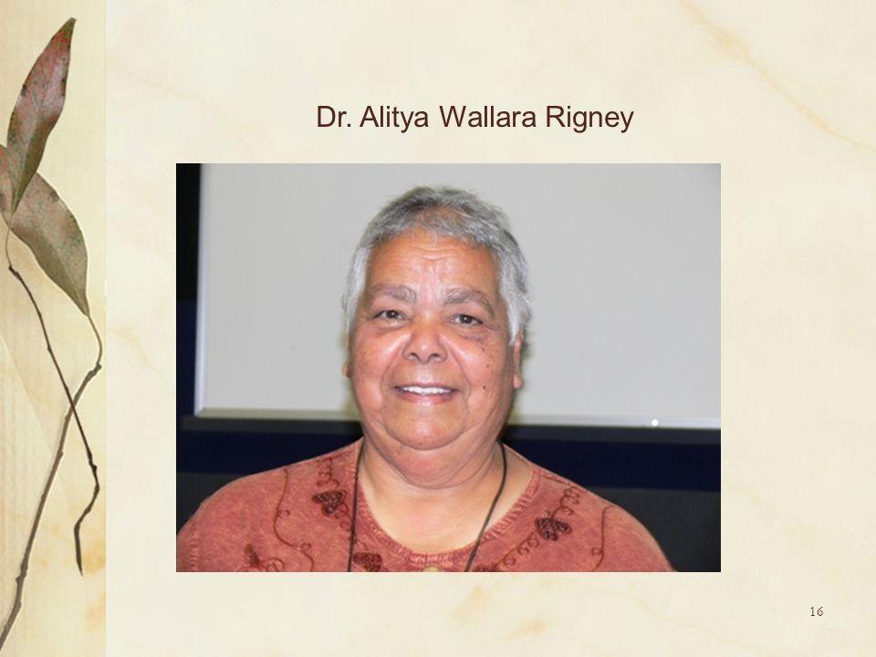 Dr. Alitya Wallara Rigney