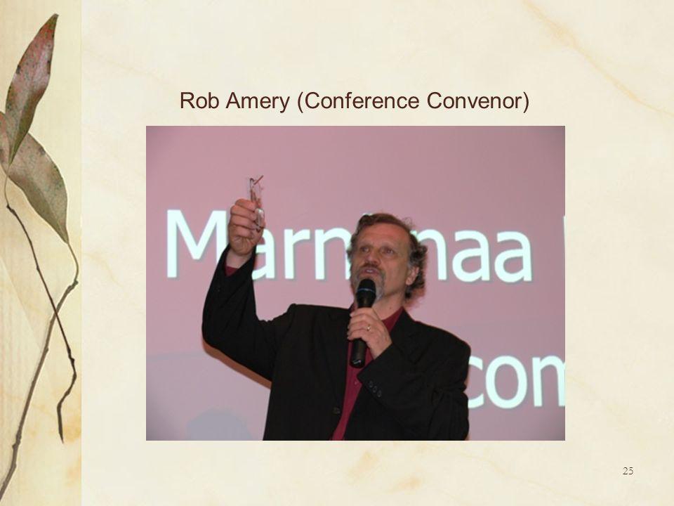 Rob Amery (Conference Convenor)