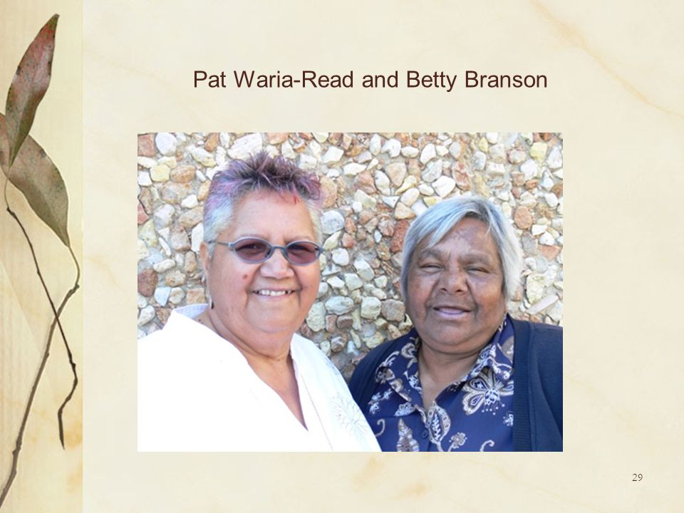 Pat Waria-Read and Betty Branson