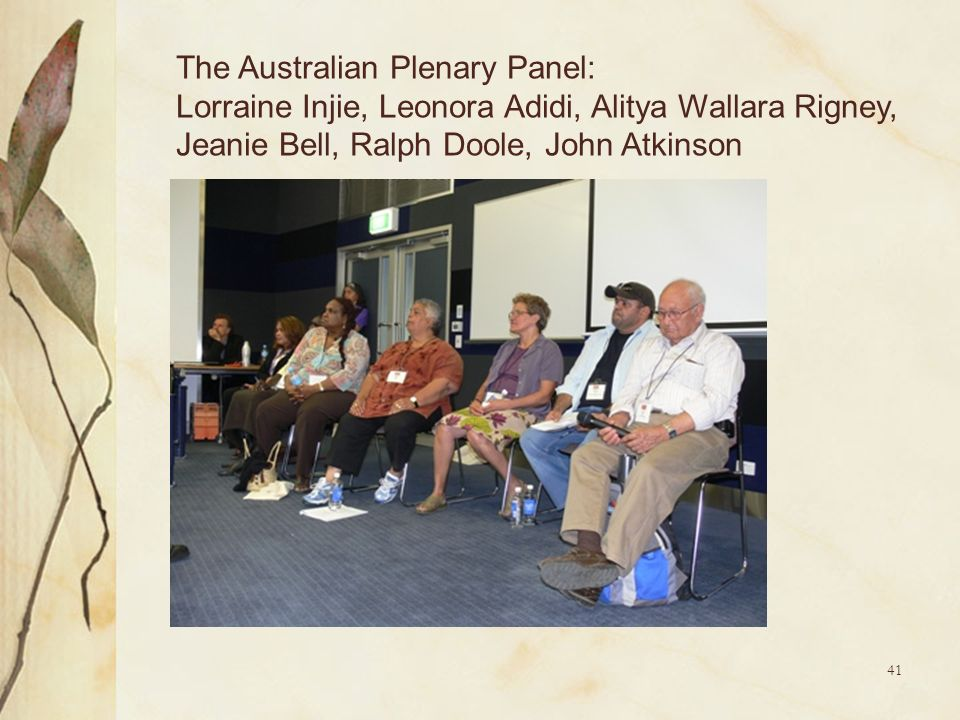 The Australian Plenary Panel: