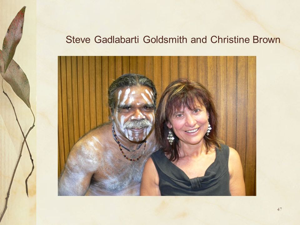 Steve Gadlabarti Goldsmith and Christine Brown