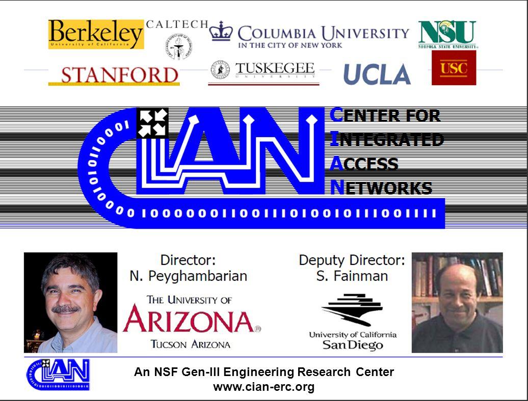 An NSF Gen-III Engineering Research Center