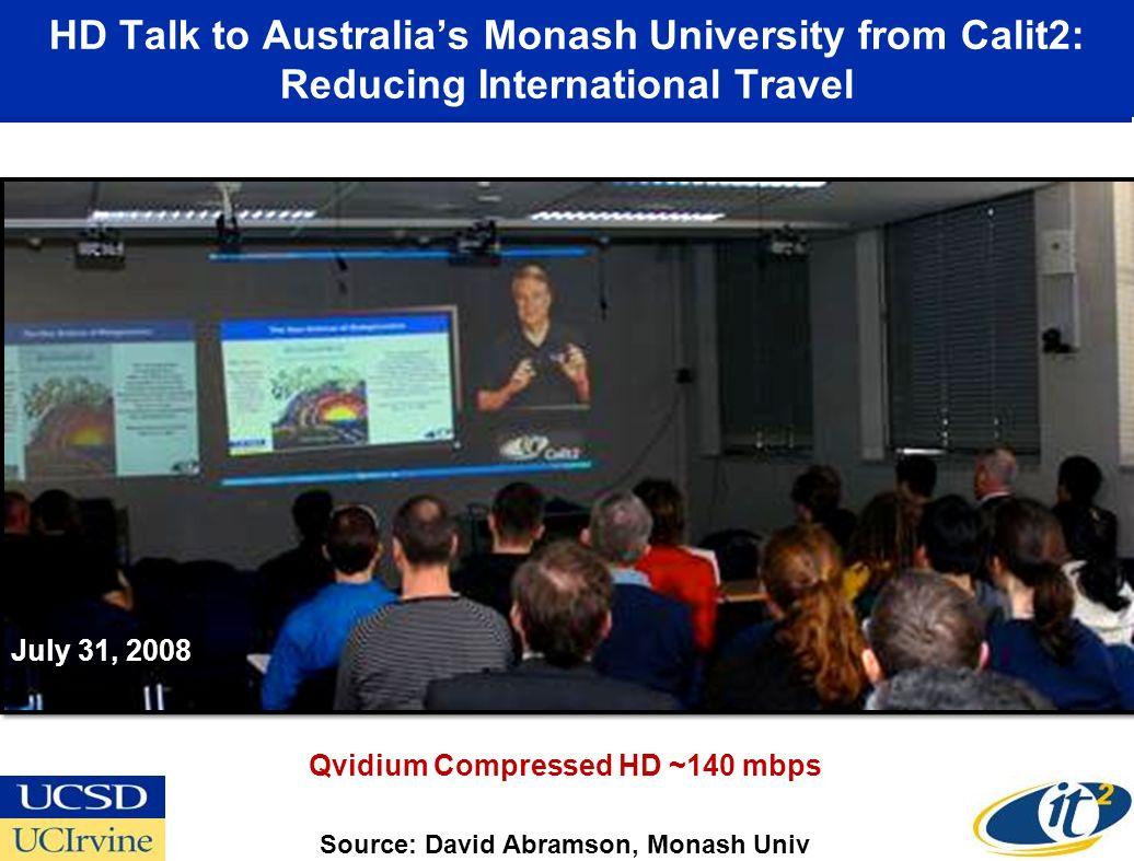 HD Talk to Australia's Monash University from Calit2: Reducing International Travel