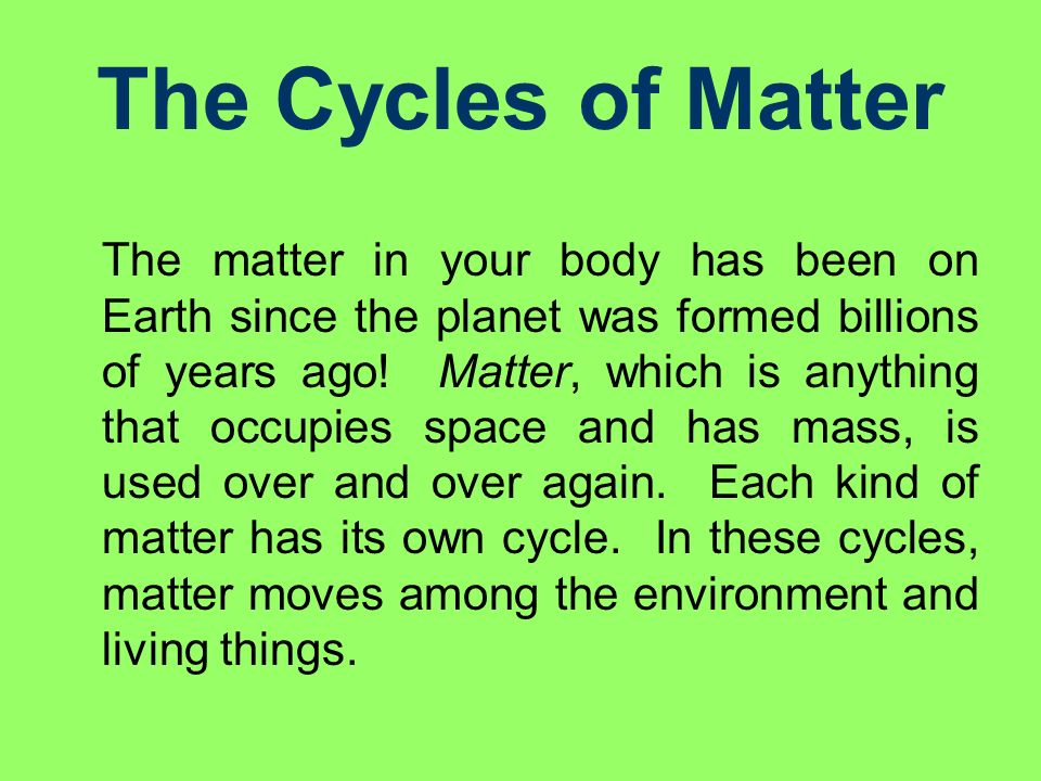 Chapter 19 Cycles of Nature ppt download – Cycles of Matter Worksheet