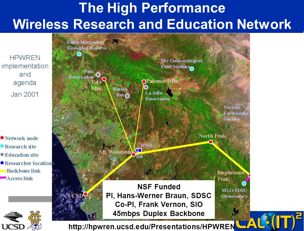 The High Performance Wireless Research and Education Network
