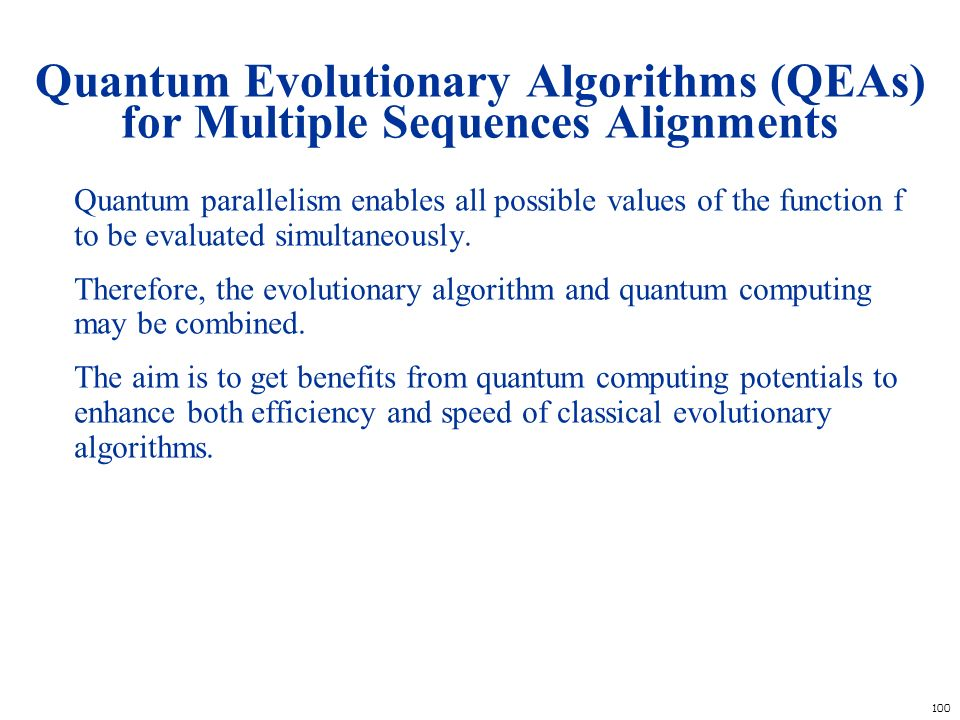 Quantum Evolutionary Algorithms (QEAs) for Multiple Sequences Alignments