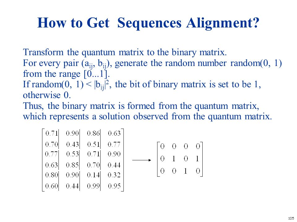 How to Get Sequences Alignment