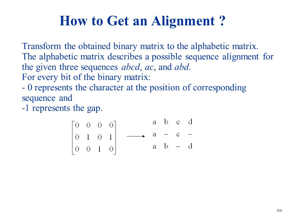 How to Get an Alignment
