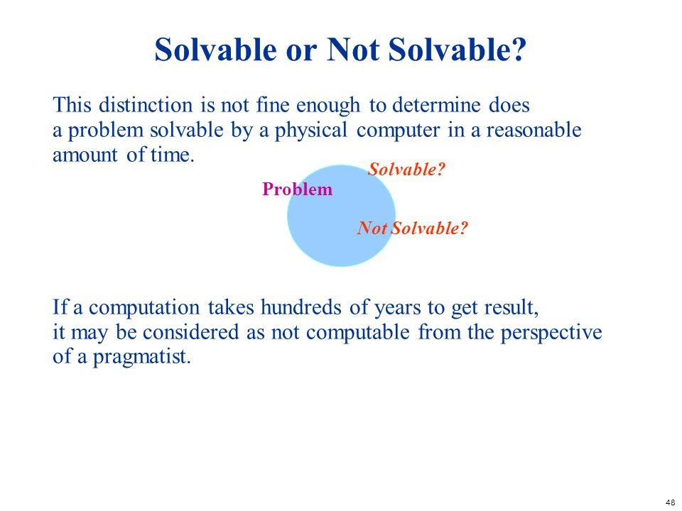 Solvable or Not Solvable
