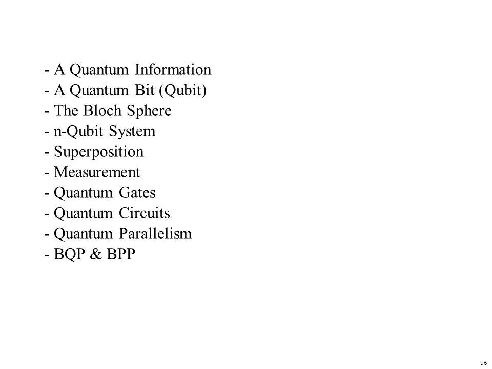 - A Quantum Information