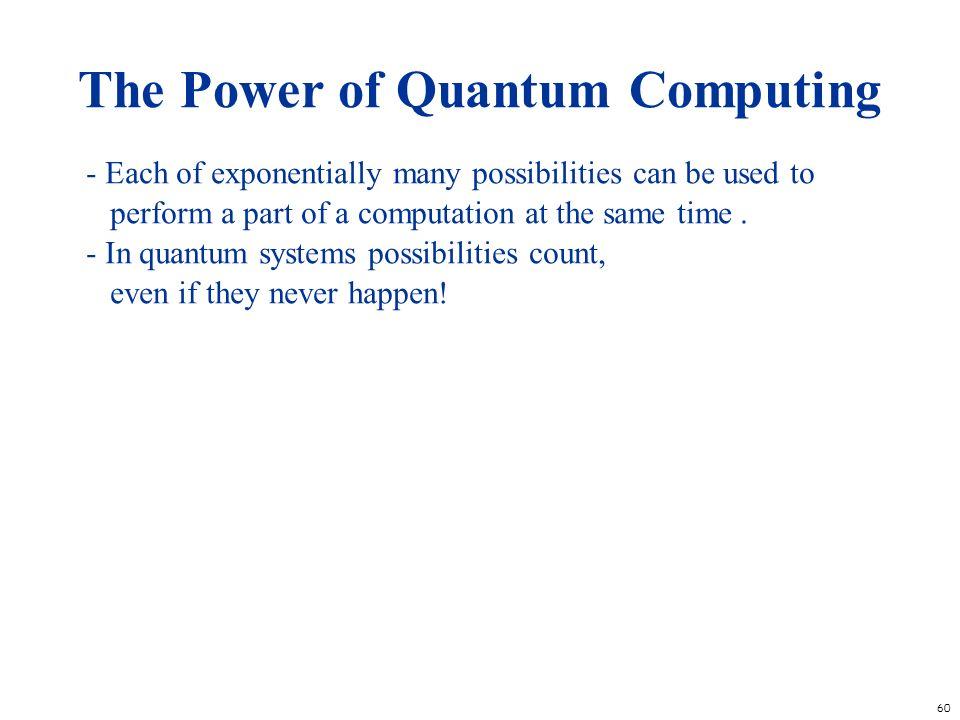 The Power of Quantum Computing