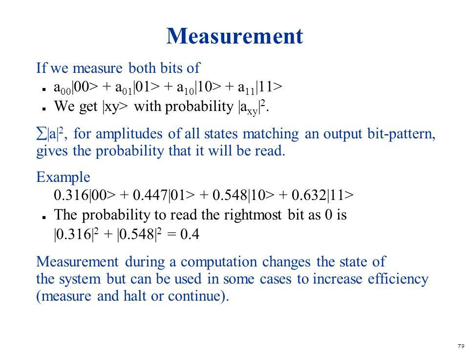 Measurement If we measure both bits of