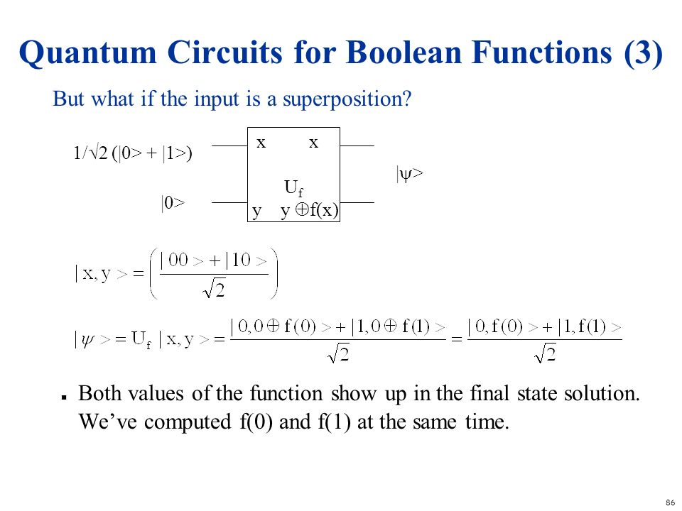 Quantum Circuits for Boolean Functions (3)