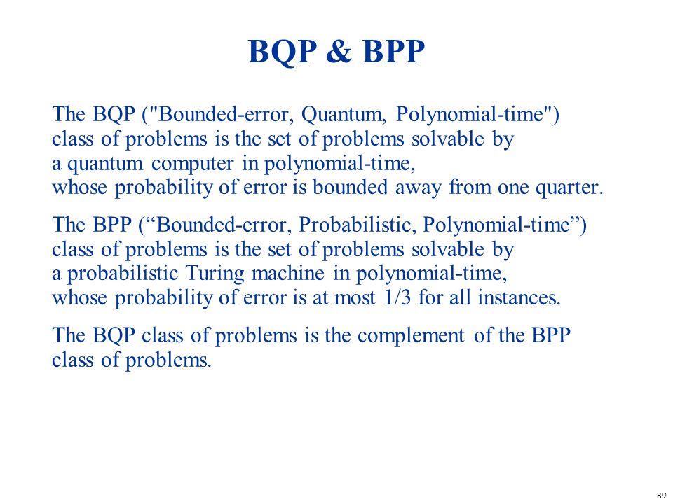 BQP & BPP