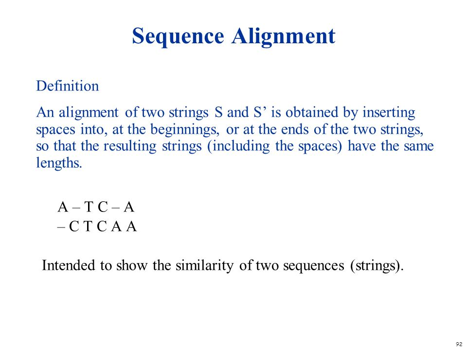 Sequence Alignment Definition
