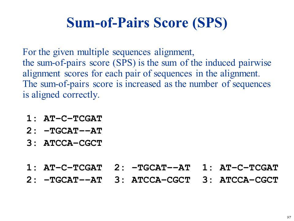 Sum-of-Pairs Score (SPS)