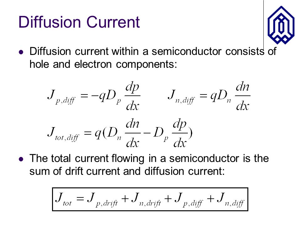 Drift And Diffusion Current Ppt Video Online Download