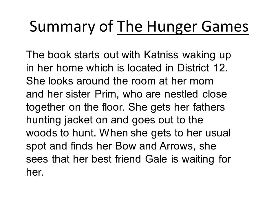 a summary of the book the hunger games by suzanne collins essay