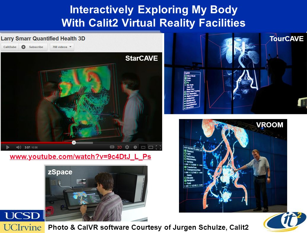 Interactively Exploring My Body With Calit2 Virtual Reality Facilities