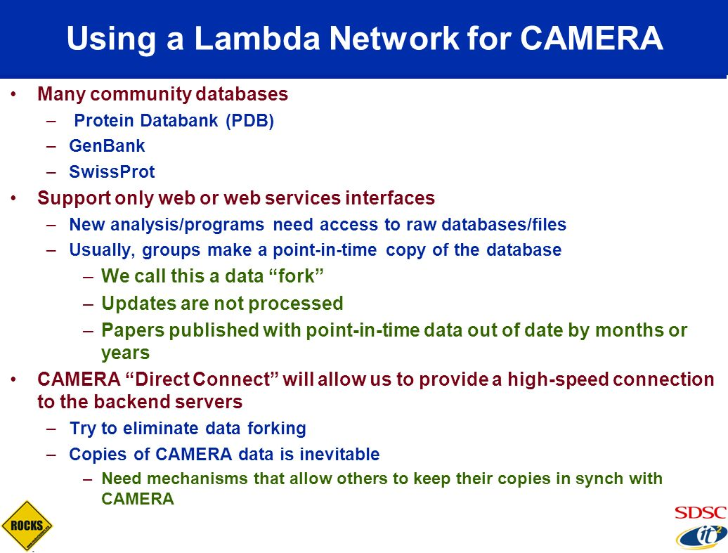 Using a Lambda Network for CAMERA