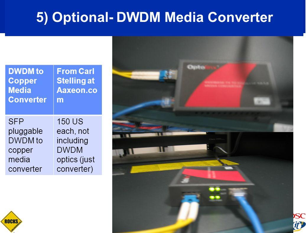 5) Optional- DWDM Media Converter