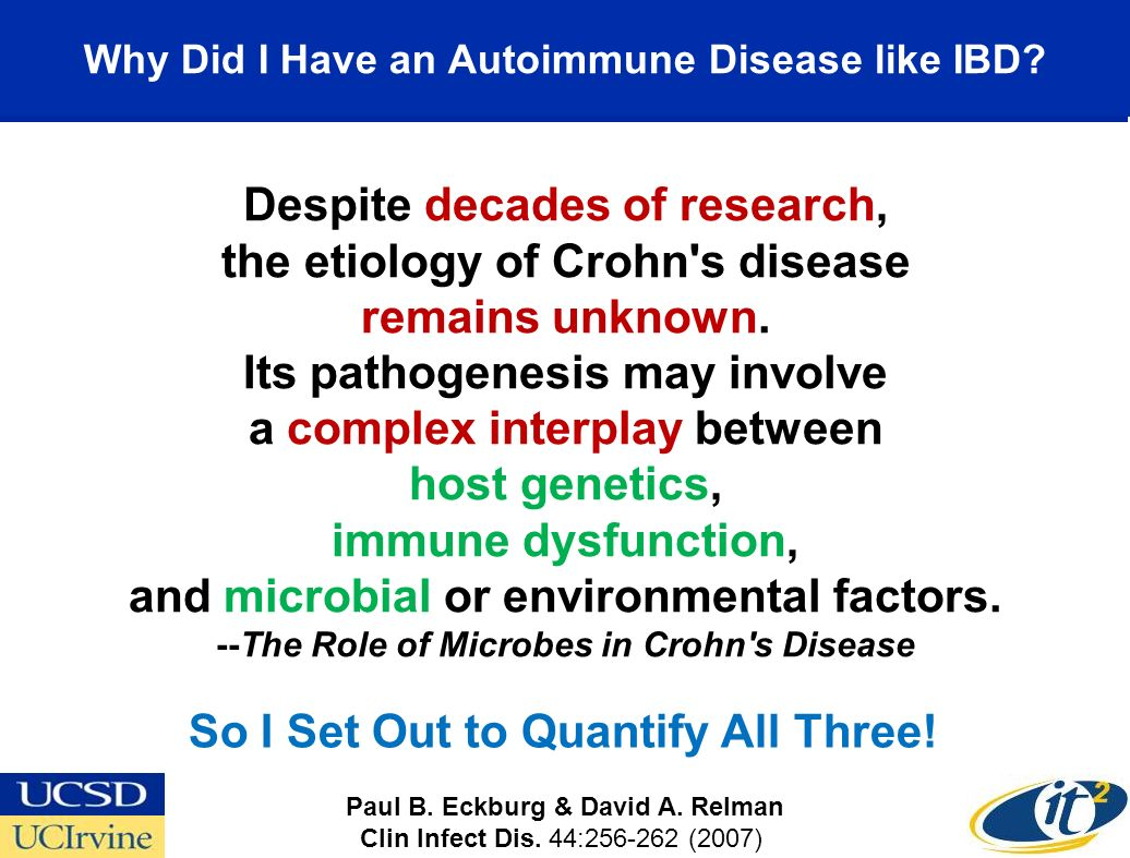 Why Did I Have an Autoimmune Disease like IBD