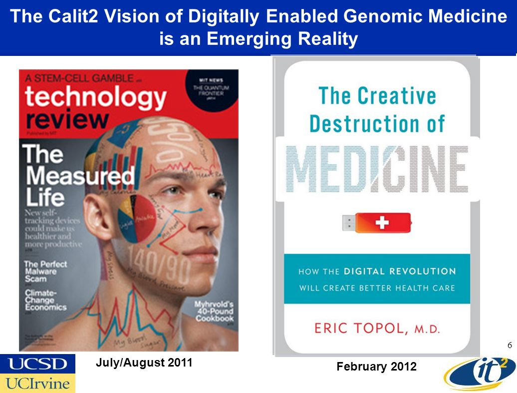 The Calit2 Vision of Digitally Enabled Genomic Medicine is an Emerging Reality