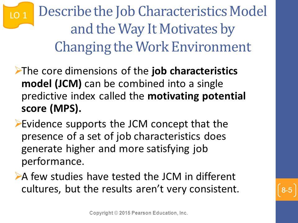 job characteristics and job satisfaction