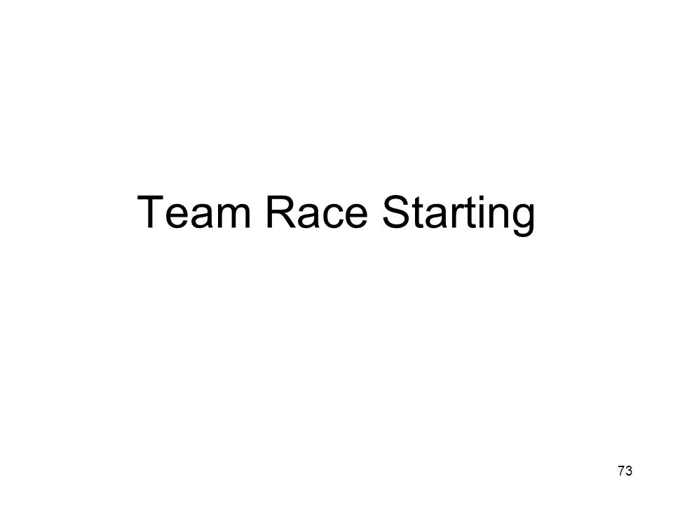 Team Race Starting