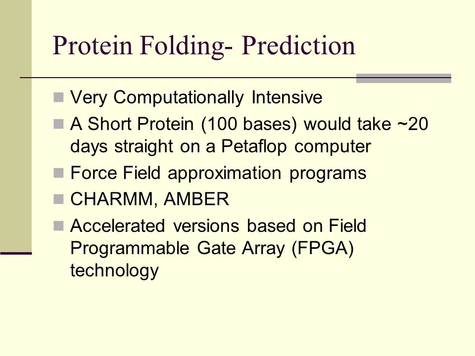 Protein Folding- Prediction